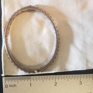 Vintage Jewelry - Sterling Art Deco Bracelet Bangle Hinge